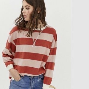 Free People Surfin' on Your Stripes Relaxed Tee